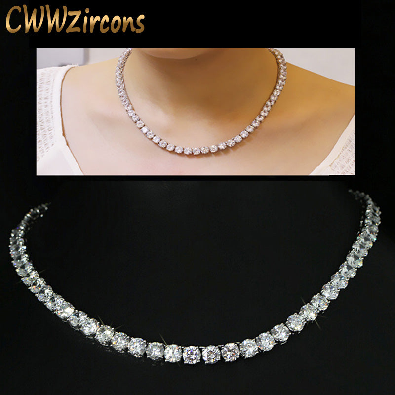 Luxurious and Sparkling Cubic Zirconia Choker Necklace