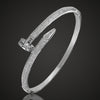 Bridal Bangle with Cubic Zirconia