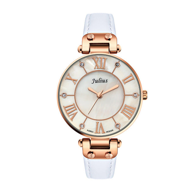 Stainless Steel Quartz Ultra Thin Women's Watch