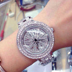 Stainless Steel Rhinestone Ladies Dress Watch.