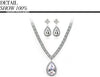 Noble Angel's Pear Shaped Pendant Necklace and Earrings - bulk offers