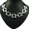 Geometric Stainless steel Necklace with Cubic Zirconia inlay - bulk offers