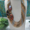 Handmade Agate Statement Necklace.