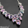HUGE Rainbow Mystic Fire Stone 925 Sterling Silver Necklace 18 inches - bulk offers