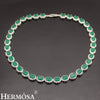 925 Sterling Silver Women's Choker Necklace Classic - Green - bulk offers