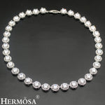 925 Sterling Silver Women's Choker Necklace Classic - White