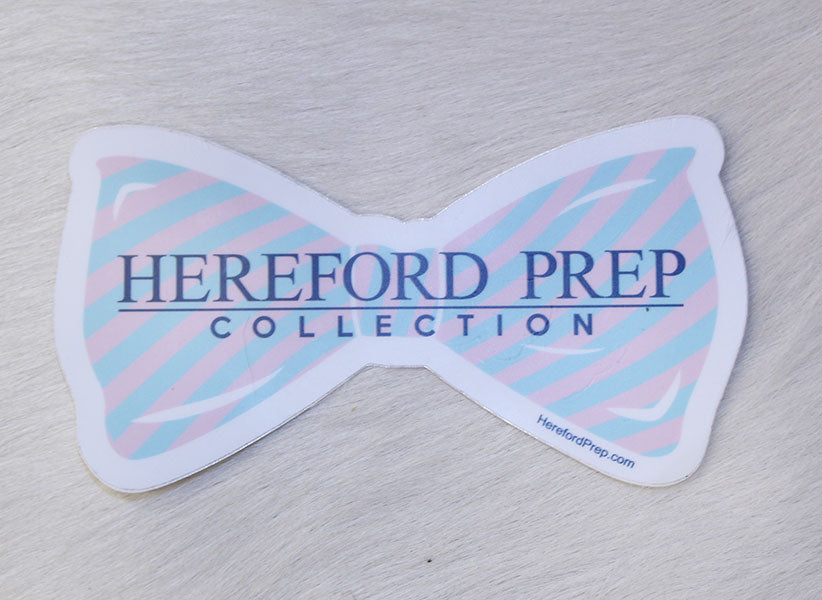 Striped Bow Sticker