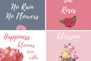 Floral Quote iPhone Wallpaper Collection | Blossom Cases