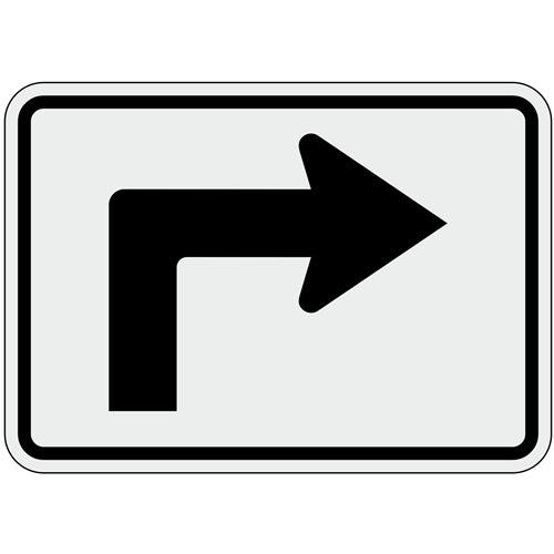 Advanced Turn Arrow - 90 Degrees Right Sign