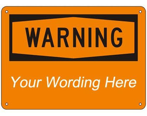 "14""x10"" OSHA Sign - Warning Header"