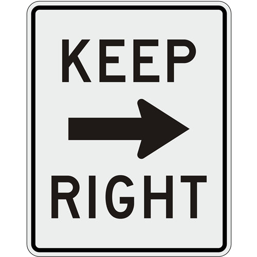Keep Right with Arrow