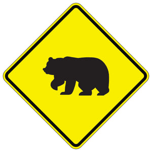 Bear Crossing Symbol