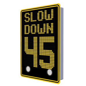 "18"" Full Matrix Speed Display Sign 
