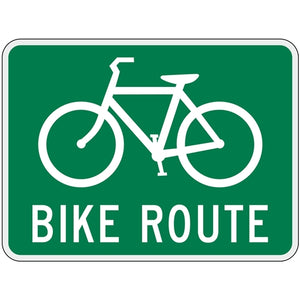 Bike Route with Symbol