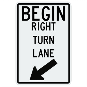R3-20R Begin Right Turn Lane