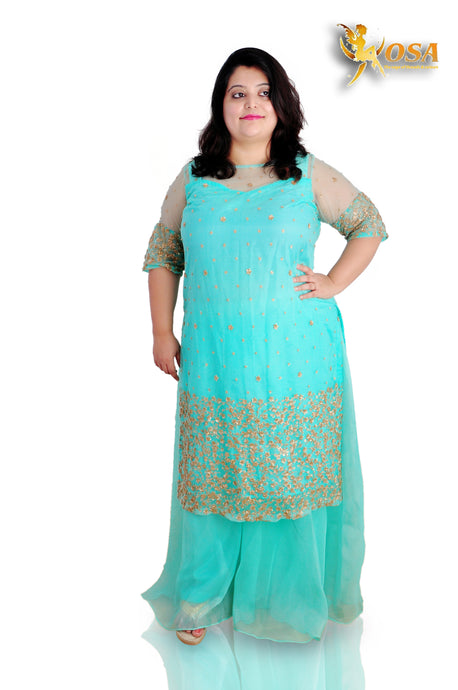 Cyan Sharara Kurta Set