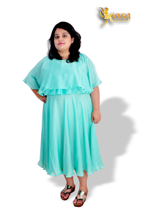 Sea Green Layered Dress