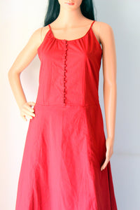 Maroon Cotton Cambric Dress