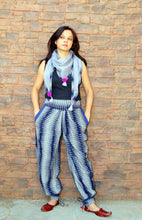 Grey & Blue Ikat Cotton Printed Lower