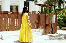 Neon Green Banarasi Skirt with Crop Top and Georgette Cape