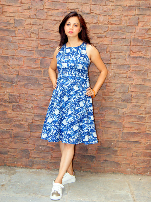 Dabu Printed Cotton Dress