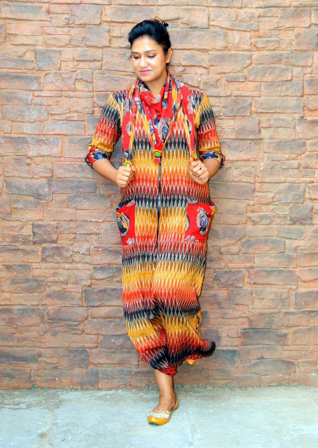 Ikat Cotton Jumpsuit