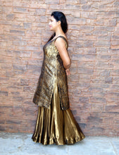 Banarasi Sharara in Black and Gold