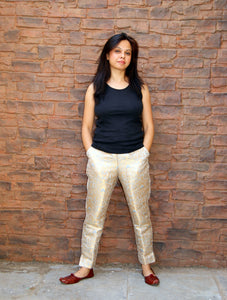 Brocade Pants - Pastel Grey