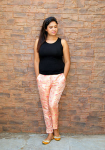 Brocade Pants - Blush Pink