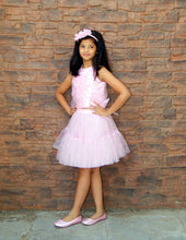 Baby Pink Tutu Skirt and Sequence Top