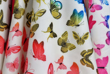 Scuba Butterfly Print Cream Color Gown