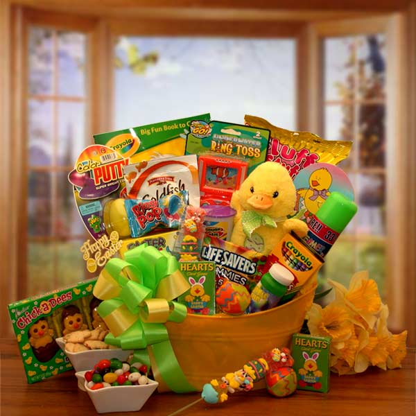 Easter Sunshine Little Duckling Gift Pail