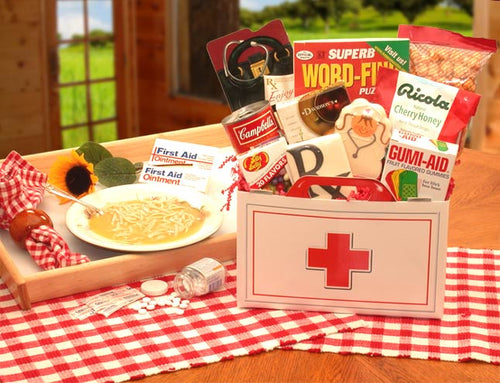 First Aid For The Ailing Get Well Gift Box