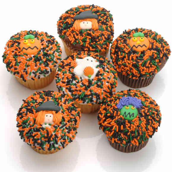 Assorted Halloween Cupcakes