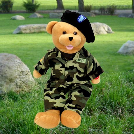 "American Hero Army Bear -  ""The Army Goes Rolling Along"""