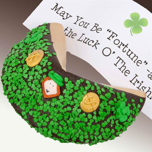 St Patrick's Day Giant Fortune Cookie