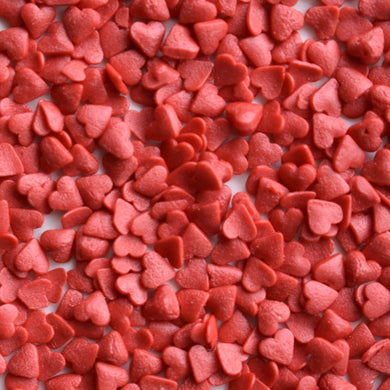 Medium Red Heart Confetti Sprinkles