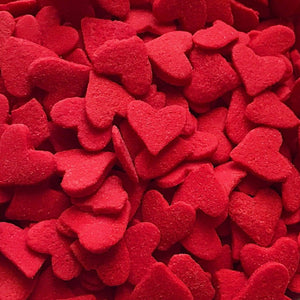 Jumbo Red Heart Confetti Sprinkles - Neon Yolk Shop
