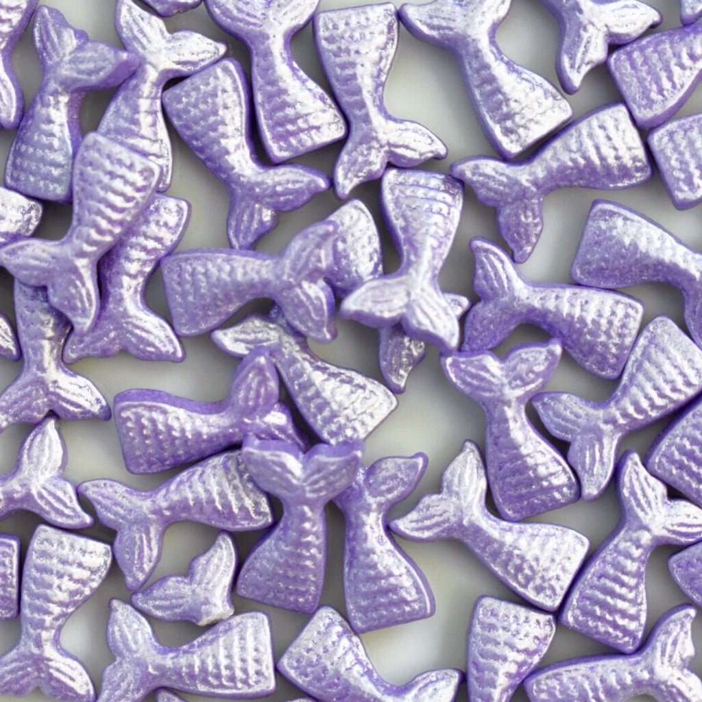 Shimmer Purple Mermaid Tail Candy Shapes - Neon Yolk Shop