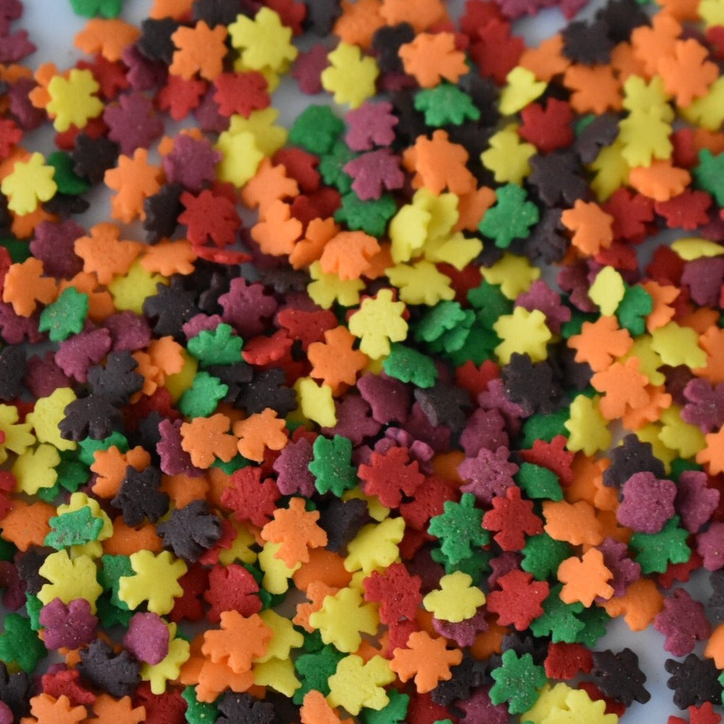 Fall Leaves Confetti Shapes