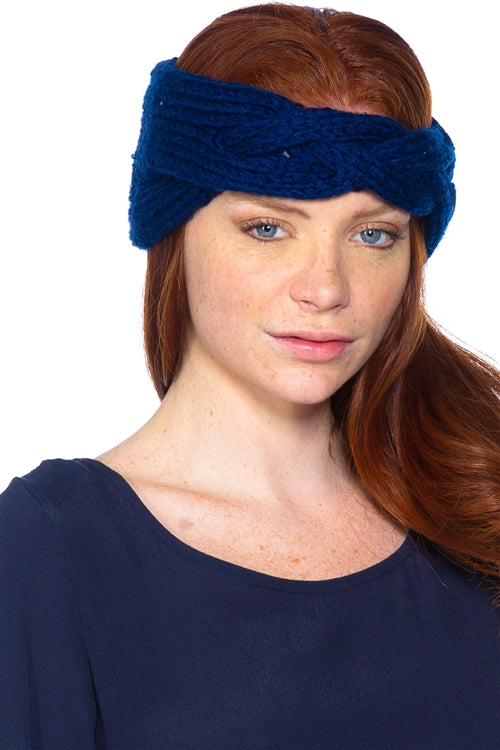Knotted Navy Headband