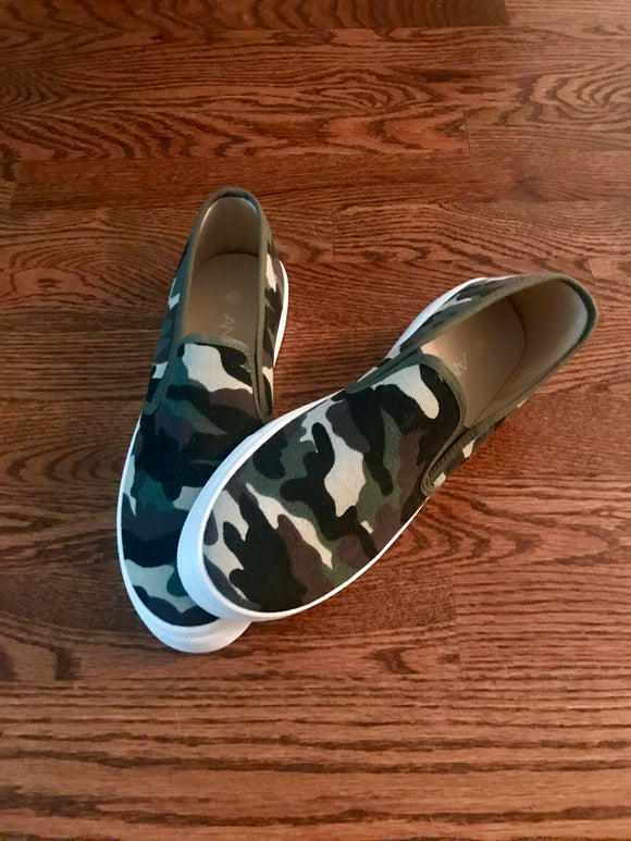 Camo Slip-on Shoes