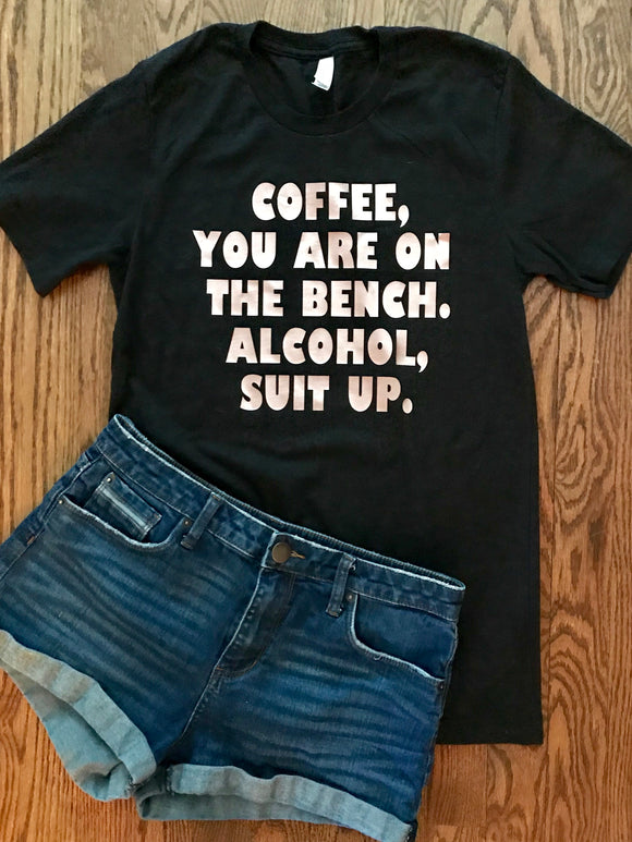 Coffee Benched Tee