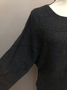 Charcoal Loose Sleeve Sweater