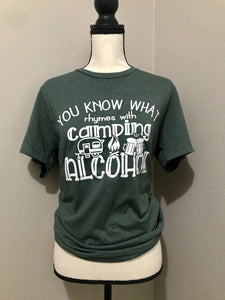 Camping Alcohol Tee