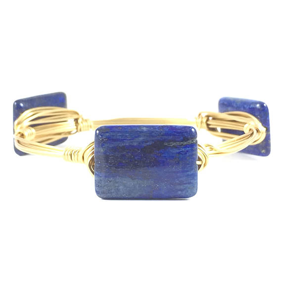 Blue Lapis Handmade Wire Wrapped Bangle