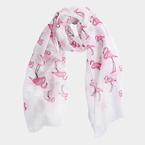 Flamingo Pattern Scarf