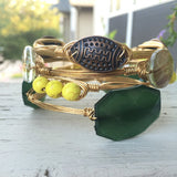 Football Handmade Wire Wrapped Bangle