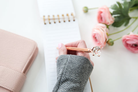 Rose Gold Diamond Top Pen