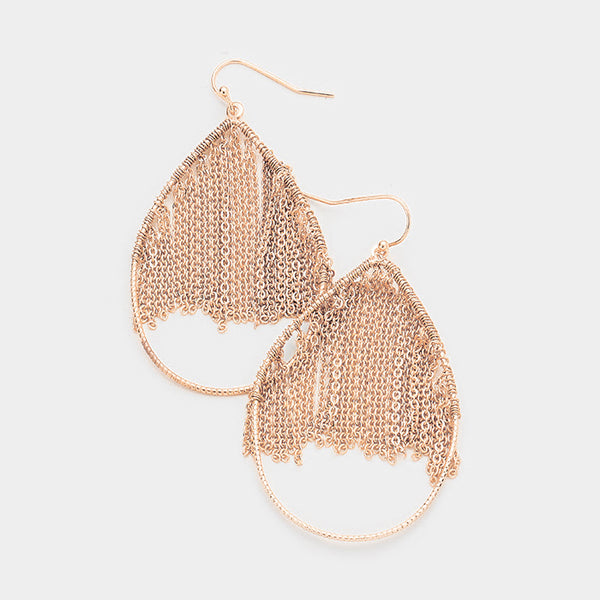 Metal Chain Fringe Earrings